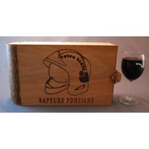 Coffret 6 verres à vin gravés pompier casque F1  personnalisable