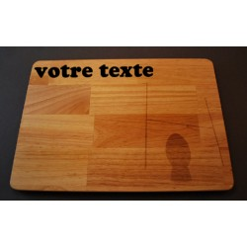 Planche à découper / apéro / motif rugby potau en bois gravée au laser et personnalisable.