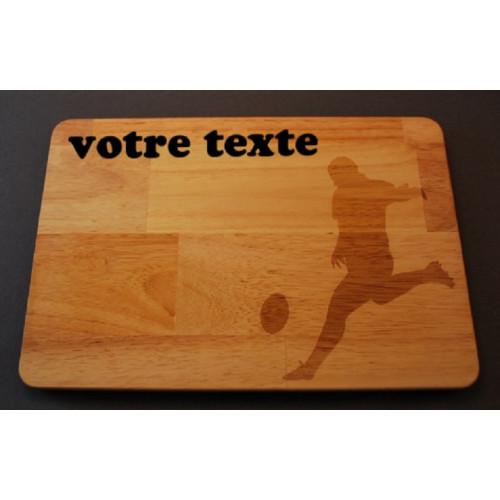 Planche à découper / apéro / motif rugby en bois gravée au laser et personnalisable.