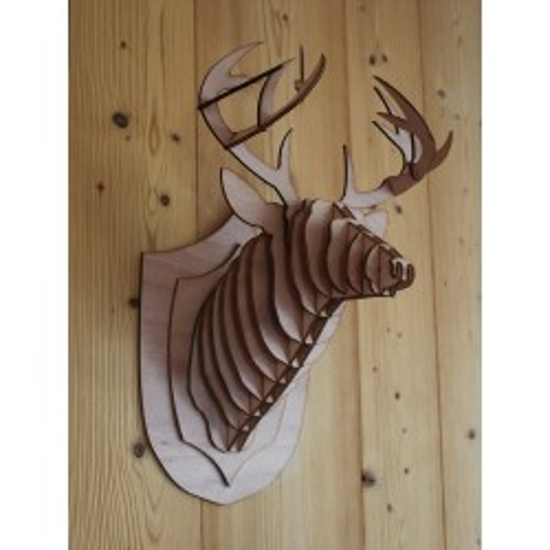 Cabeza de ciervo en madera 40cm