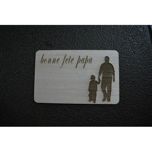 Carte postal bois gravé au laser fête des mères 1