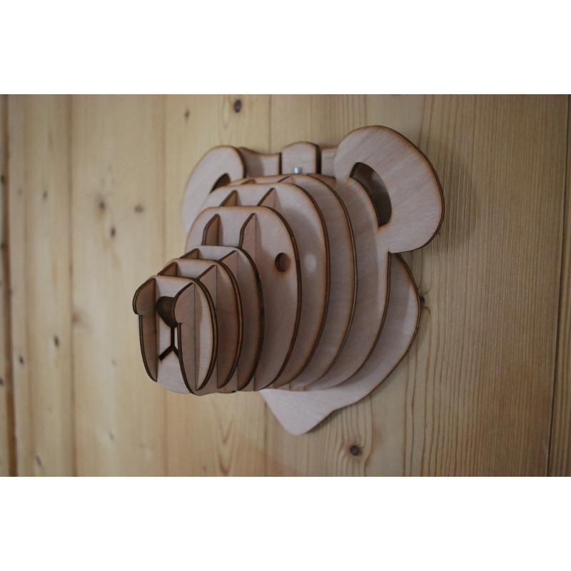 Ourson en bois 33cm made in France