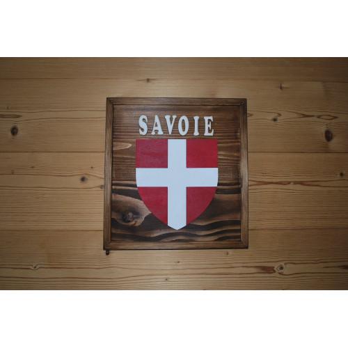 Tableau  croix de Savoie en bois
