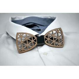 Triangle wooden bow tie