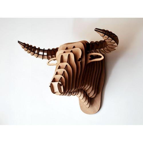 Tête de taureau en bois 39 cm