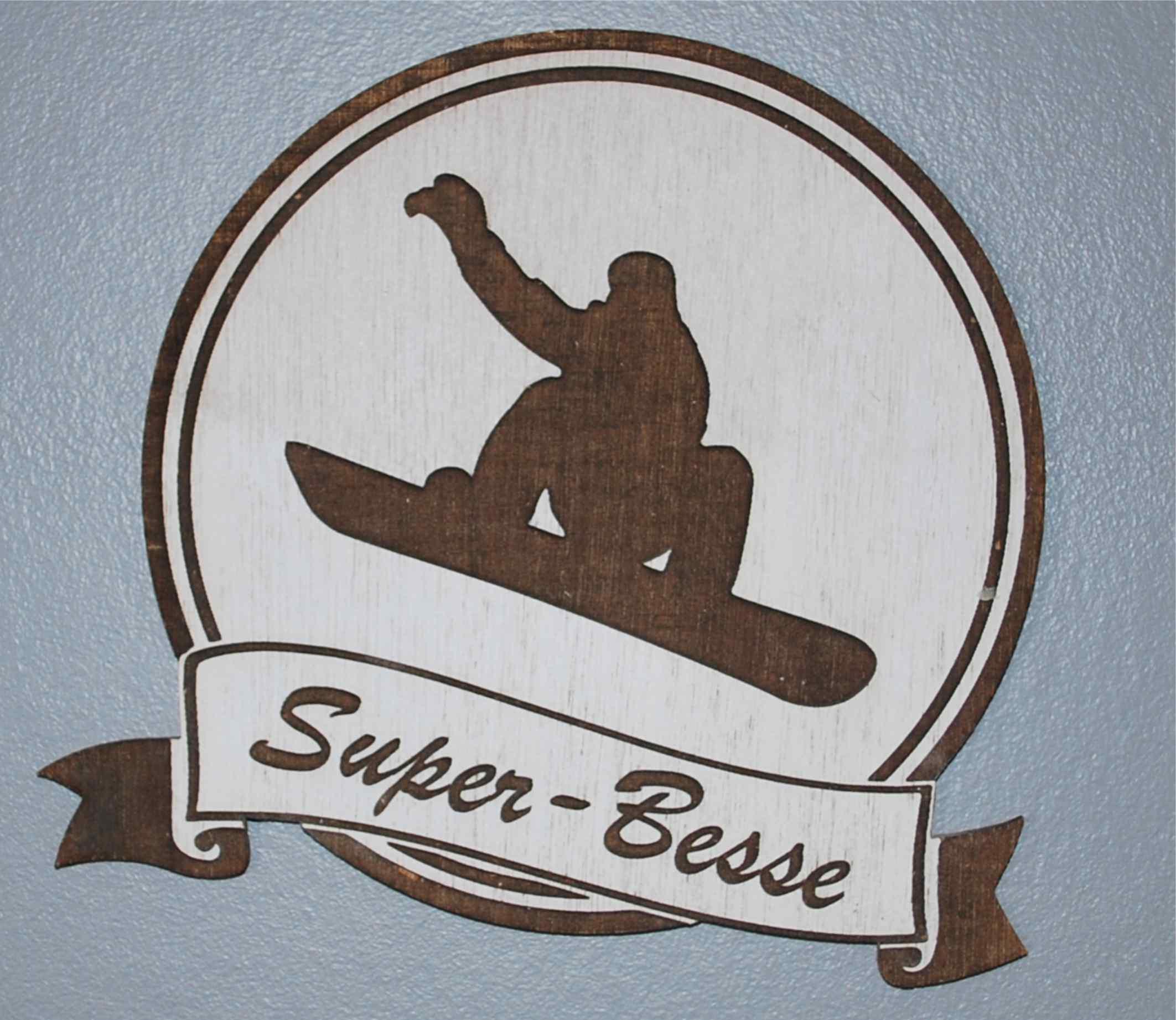 Décoration à suspendre 28 ou 15 cm snowboard