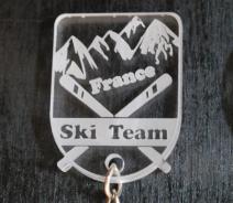 porte clef ski france