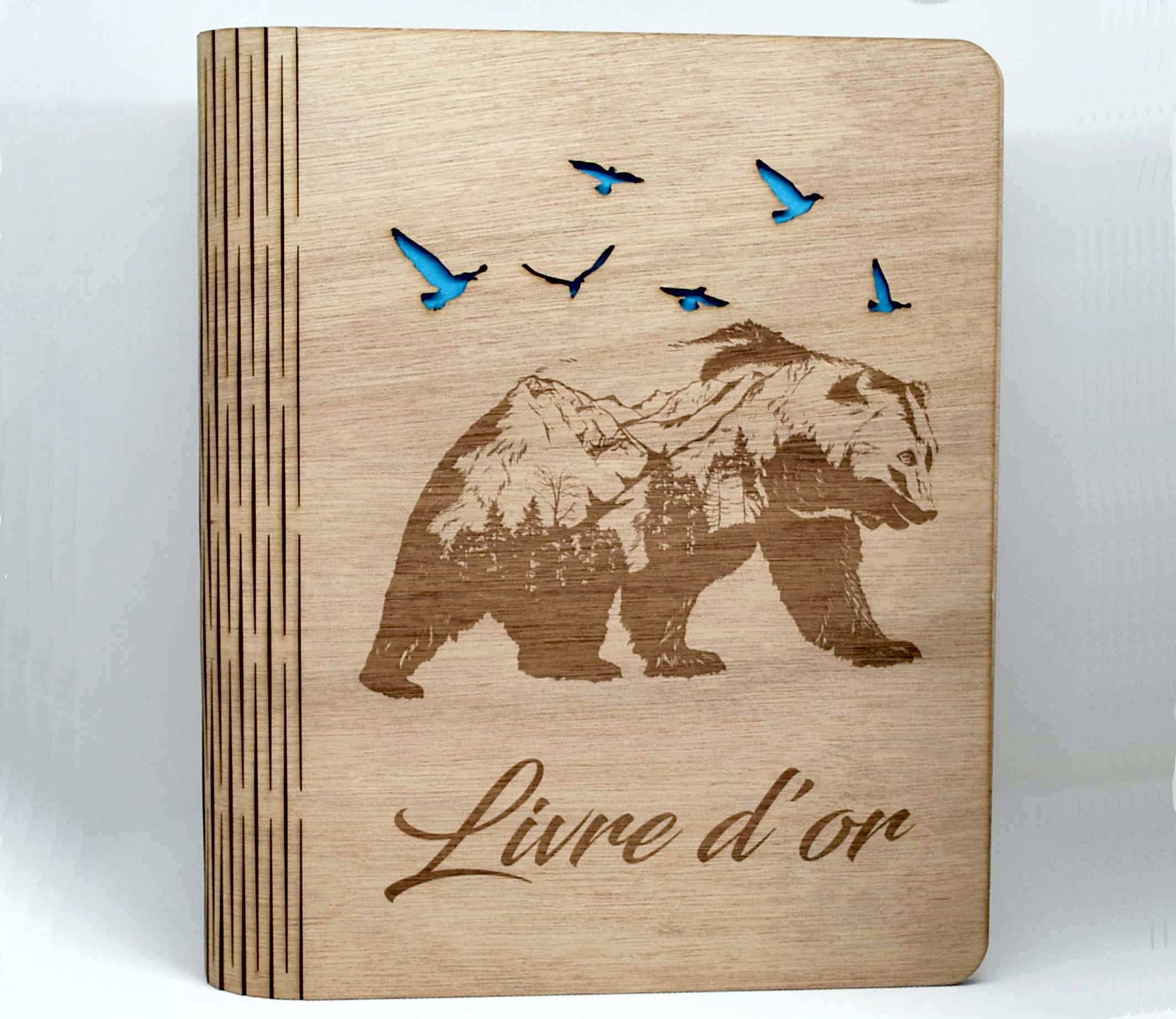 Livre en bois ou album photos personnalisable