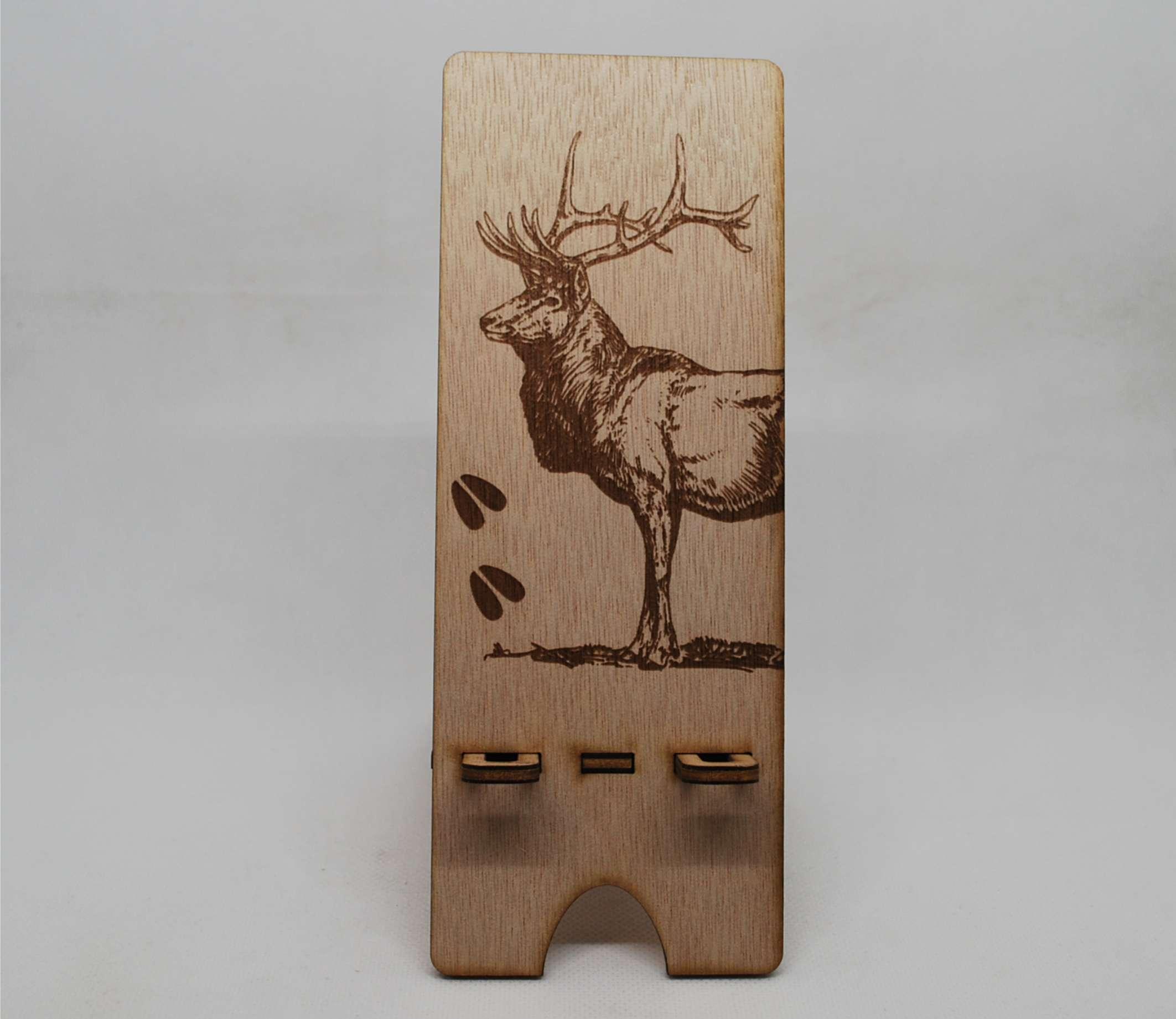 Support téléphone en bois