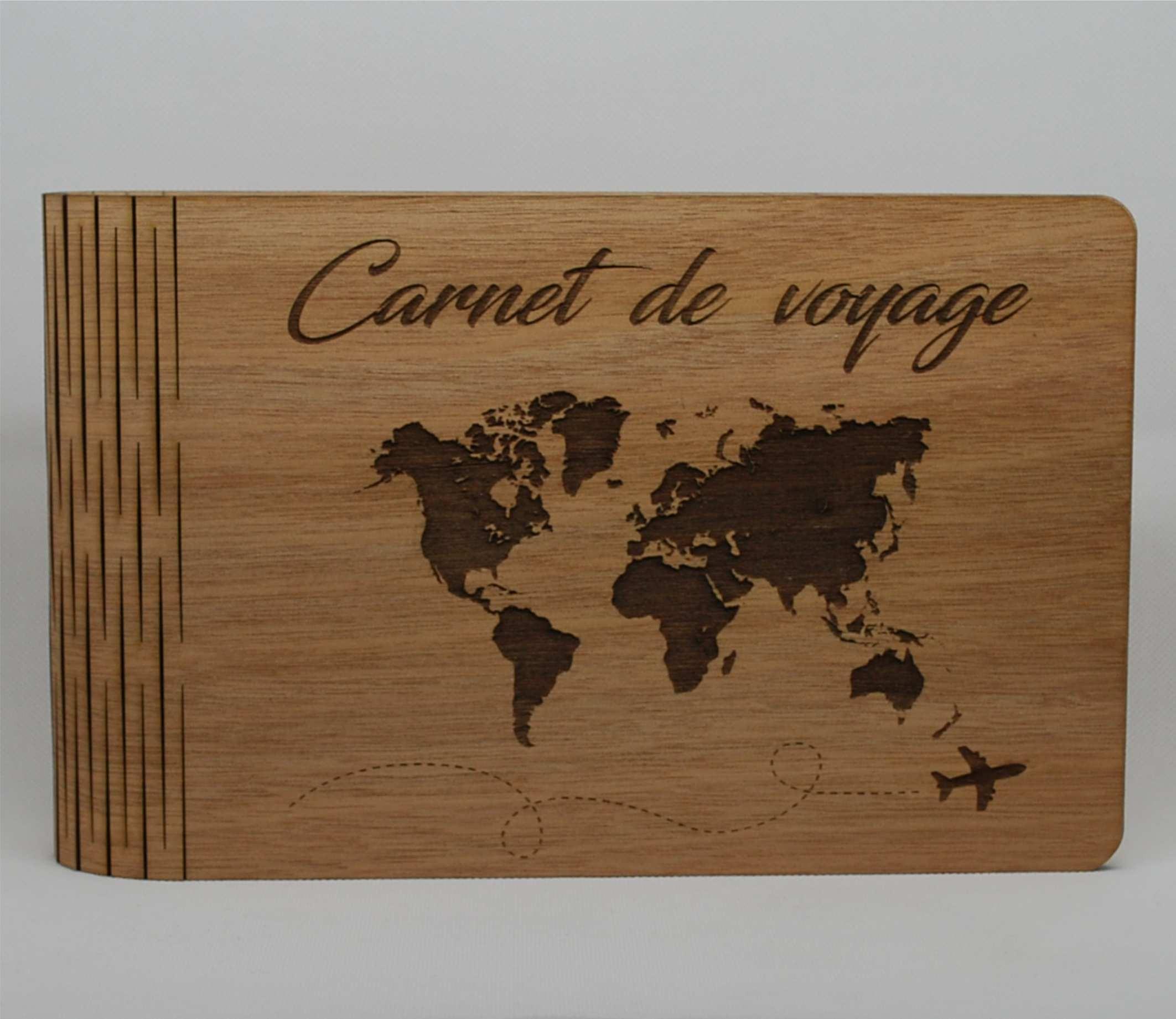 carnet de voyage bois